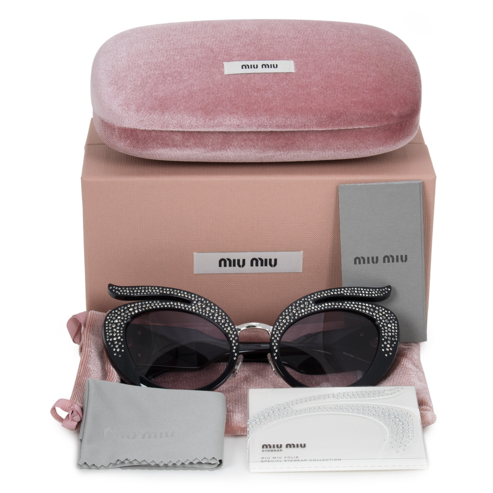 5a9aaabb31a Shop Miu Miu Cat Eye Sunglasses SMU04TS 07H3E2 53 - Free Shipping Today -  Overstock - 25494033