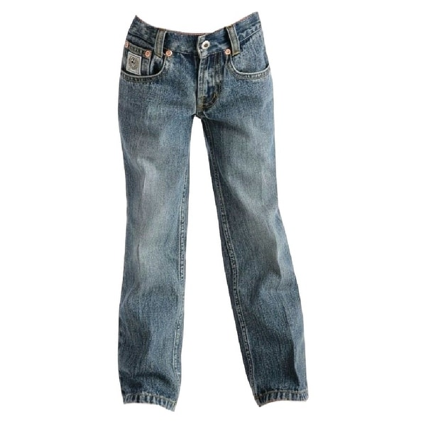 Cinch Western Denim Jeans Boys Slim Straight White Label