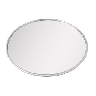Unique BargainsUniversal Car Round Shaped Wide Angle Convex Blind Spot Mirror Silver Tone Red