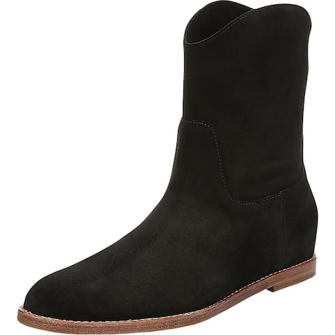 Vince Womens Sinclair Ankle Boots Suede Stacked