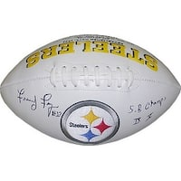 Frenchy Fuqua signed Pittsburgh Steelers White Logo Football SB Champs IX X