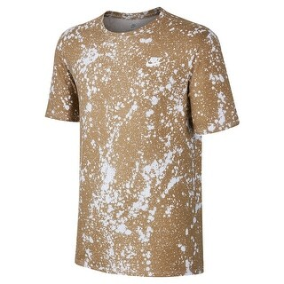 Nike NEW Beige Mens Size Large L Splatter Graphic Print Tee Shirt