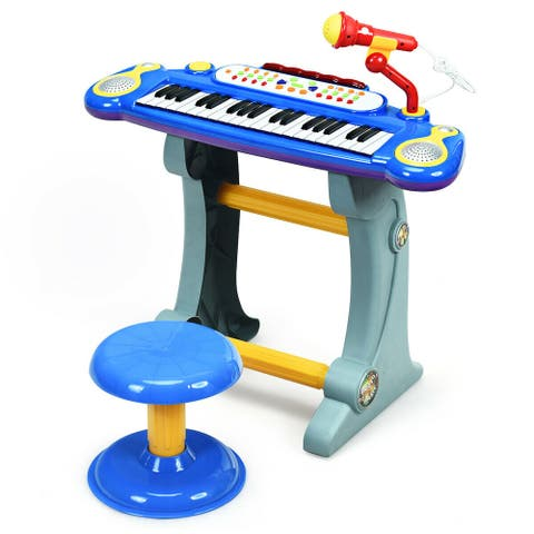 Gymax 37 Key Electronic Keyboard Kids Toy Piano MP3 Input w/