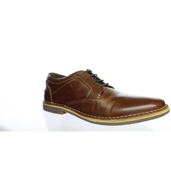 7705cd66b25 Shop Steve Madden Mens Harver Cognac Leather Oxford Dress Shoe Size ...