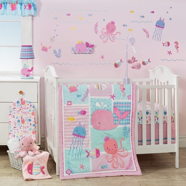 Shop Bedtime Originals Sugar Reef Pink Blue Nautical Whale