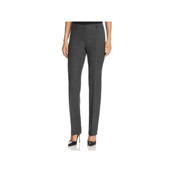 Hugo Boss Womens Tameas5 Dress Pants Wool Blend Career Wear