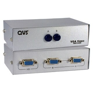 QVS CA298-2P QVS VGA Switch - 1280 x 1024 - SXVGA - 2 x 11 x VGA Out