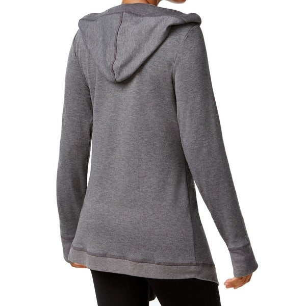 Womens Hooded Zip Up Front Wrap Top Ladies Long Sleeve Jumper Cape Cardigan Top