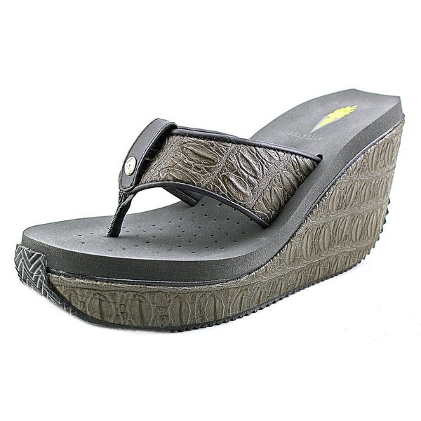 Volatile Iggy Women Open Toe Synthetic Gray Wedge Sandal