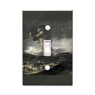 The Colossus (de Goya) 1818 Masterpiece Classic (Light Switchplate Cover)