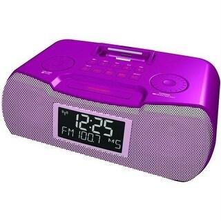 Sangean Rcr-10 - Pink Am/Fm Atomic Clock Radio With Ipod Dock - Pink