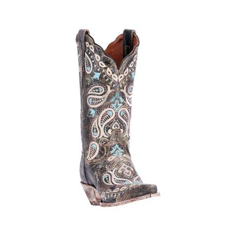 Dan Post Fashion Boots Womens Julissa Paisley Snip Chocolate