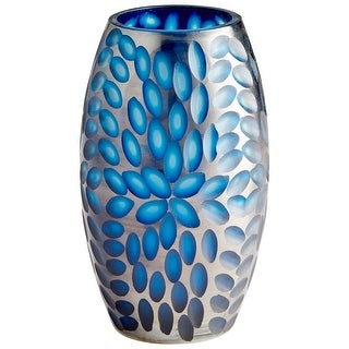 "Cyan Design 10029  Katara 6"" Diameter Glass Vase - Blue"