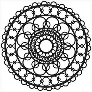 "Ring Doily - Crafter's Workshop Template 6""X6"""