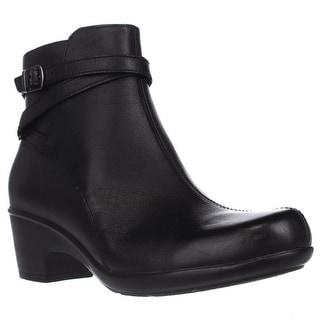 Clarks Malia Meara Casual Ankle Boots - Black