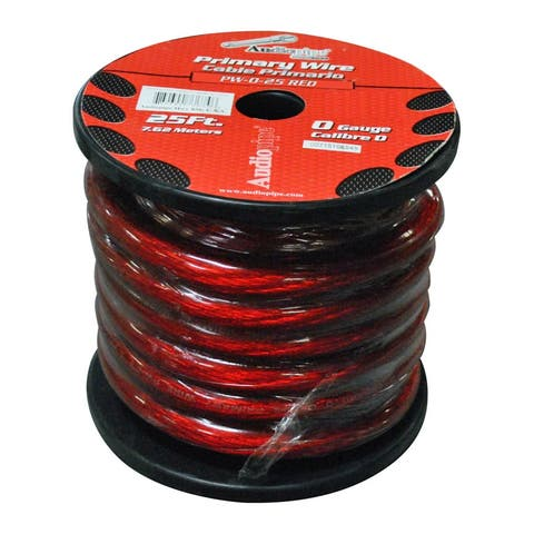 Nippon pw025rd power wire audiopipe 0ga. 25' red