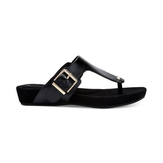 Link to Giani Bernini Womens Rivver Leather Open Toe Formal Slide Sandals Similar Items in Women's Shoes
