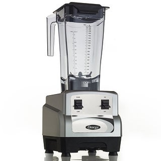 Omega OM6160S 3 Peak HP Blender with 64oz Container, Silver & Black