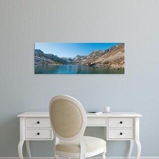 Easy Art Prints Panoramic Image 'Mountains, Lake Sabrina, Eastern Sierra, Bishop, Inyo County, California' Canvas Art