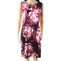 Connected Apparel Rosewood Womens Floral Sheath Dress