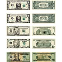 Money Us Bills 60 Stickers Per Pk