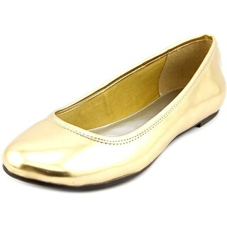 American Living Dolores Women Round Toe Synthetic Gold Flats