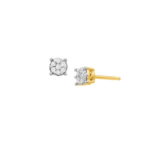 1/10 ct Diamond Composite Stud Earrings in 10K Gold
