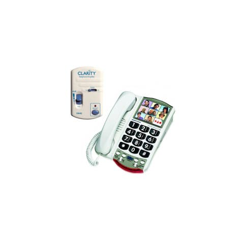 Clarity P300 Amplified Corded Telephone with HA40 Portable Telephone Amplifier Bundle