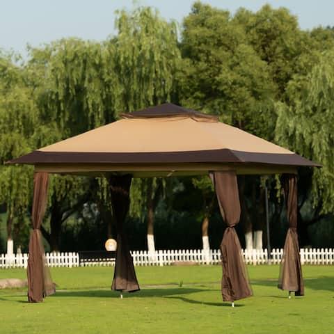 Nestfair Gazebo Tent Instant with Mosquito Netting Outdoor Gazebo Canopy