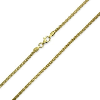 Bling Jewelry .925 Sterling Silver Gold Plated Coreana Chain 30 Gauge Italy