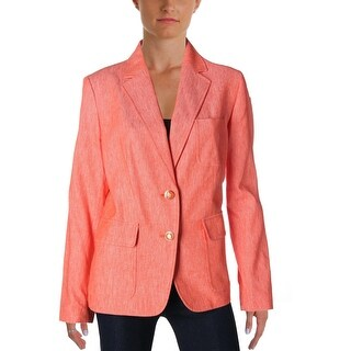 Nine West Womens Two-Button Blazer Heathered Linen - 10