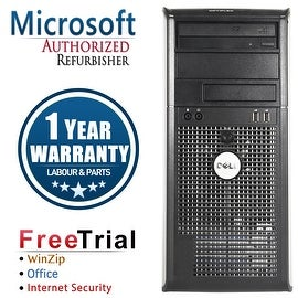 Refurbished Dell OptiPlex 360 Tower Intel Core 2 Duo E6550 2.33G 4G DDR2 250G DVD Win 7 Home 64 Bits 1 Year Warranty