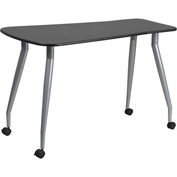 Hamlet portable Black Home/Office Computer Desk w/Dual Wheel Castors