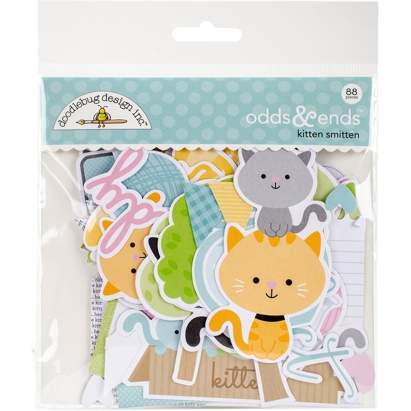 Doodlebug Odds & Ends Die-Cuts 88/Pkg-Kitten Smitten