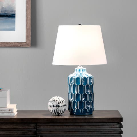 "nuLOOM Matera 20"" Ceramic Table Lamp - 12""W x 12""D x 19.5""H"