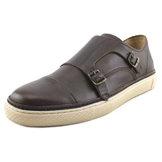 Frye Gates Double Monk Round Toe Leather Loafer