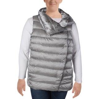 Lauren Ralph Lauren Womens Plus Outerwear Vest Asymmetric Funnel Neck (2 options available)