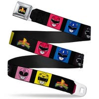Power Rangers Logo Full Color Power Rangers Face Blocks2 Mighty Morphin Seatbelt Belt