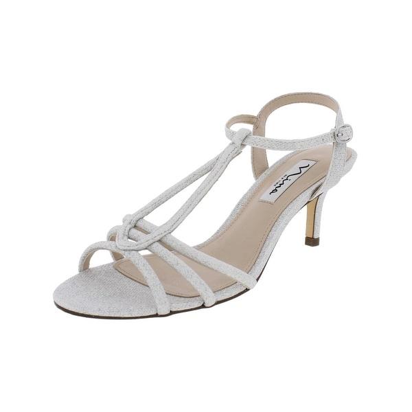 Nina Womens Charece Dress Sandals Strappy Open Toe - 7 medium (b,m)