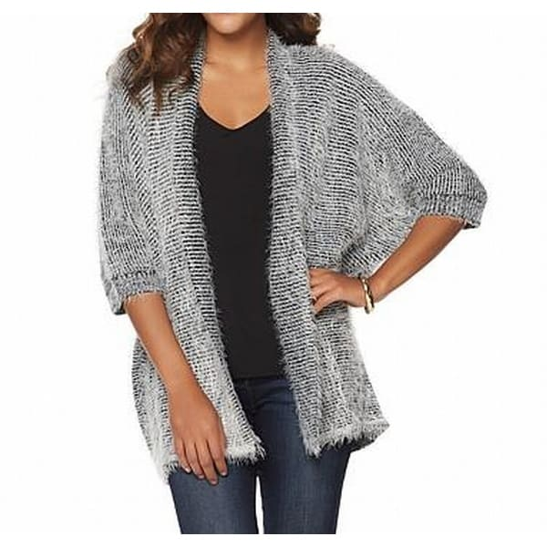 d204c22dfc0 Shop Faith   Zoe NEW Gray Women Small S Novelty Yarn Open-Cardigan Sweater  - Free Shipping On Orders Over  45 - Overstock - 18529395