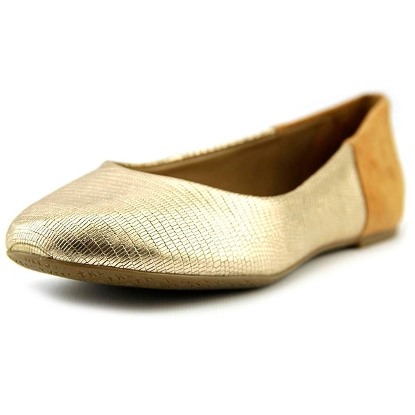 Tkees Raleigh Women  Round Toe Synthetic Gold Ballet Flats