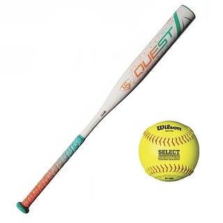 Louisville Slugger 2018 Quest Fast Pitch Softball Bat with Softball (Yellow)