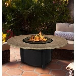 California Outdoor Concepts 5010-BK-PG2-SUN-48 Carmel Chat Height Fire Pit-Bl...