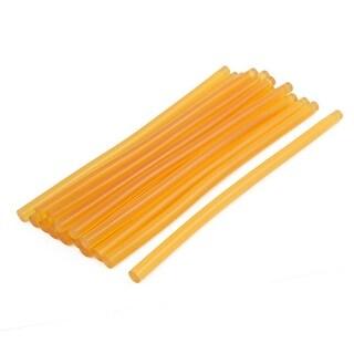 11mmx270mm Heating Gun Hot Melt Glue Adhesive Stick Yellow 15pcs