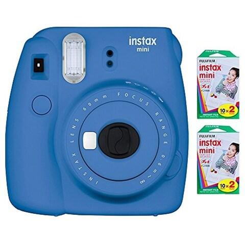 Fujifilm Instax Mini 9 (Cobalt Blue) w/ Color Film (40 Exposures)