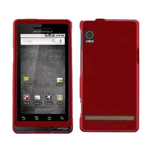 Motorola Droid A855 Snap-On Case - Red (Bulk Packaging)
