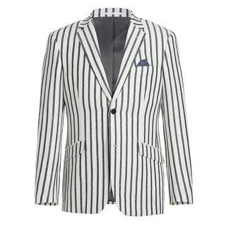 Link to Men's Slim Fit Linen Viscose Stripe Sport Coat Similar Items in Sportcoats & Blazers