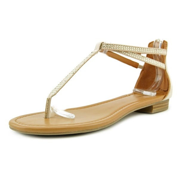 Style & Co Brinna Women Open Toe Synthetic Tan Thong Sandal