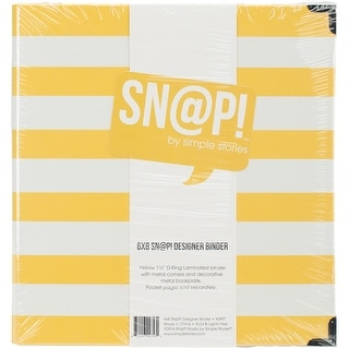 "Sn@p! Designer Binder 6""X8""-Yellow Stripe"