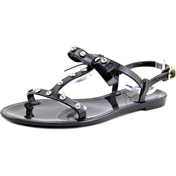 Kate Spade Savannah Women Open-Toe Synthetic Black Slingback Sandal